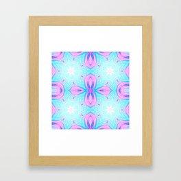 Pink & Blue Star Explosion Pastel Pattern Framed Art Print
