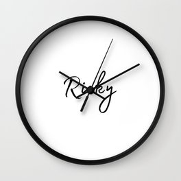 Ricky Calligraphy Wall Clock