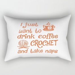 Coffee, Crochet and Naps Rectangular Pillow