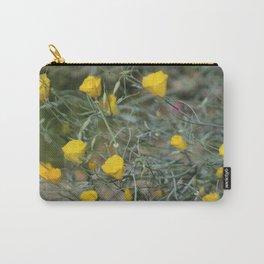 Closeup Golden Yellow California Poppies Coachella Wildlife Preserve Carry-All Pouch
