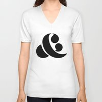 ampersand V-neck T-shirts featuring Ampersand by Andrei Robu