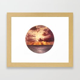 Clouds on clouds Framed Art Print