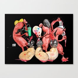 Slaughter Sausages Canvas Print