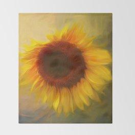 Sunflow Love 2 Throw Blanket