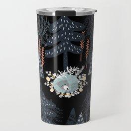 fairytale night forest Travel Mug