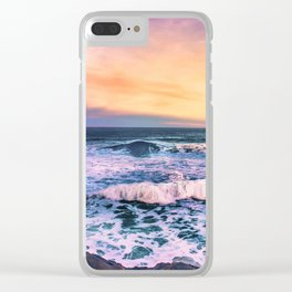 Sunset of the Bay of Biscay Clear iPhone Case