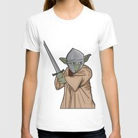 medieval T-shirts featuring Yoda medieval  by  Steve Wade ( Swade)