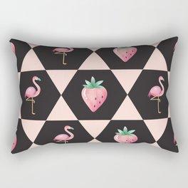 Strawberry Flamingo Rectangular Pillow