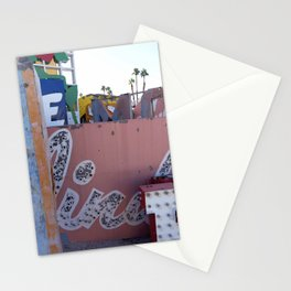 Broken Down Signs, Lights, and Colours in Las Vegas 02 Stationery Cards
