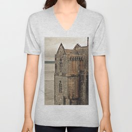 Mont St. Michel - Square Tower - Brittany France Unisex V-Neck