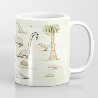 dinosaurs Mugs featuring Dinosaurs by Sophie Corrigan