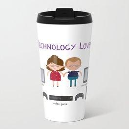 Technology Love Metal Travel Mug