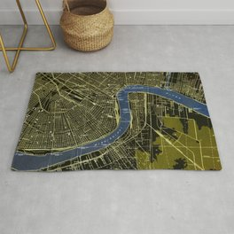 06-New Orleans Louisiana 1932, old colorful map Rug