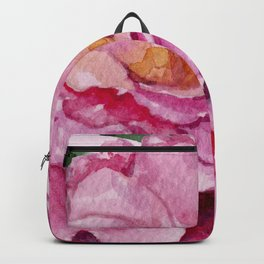Pink on Pink Spring Roses Backpack