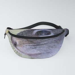 Watercolor Pine Squirrel 06, Is the Coast Clear? Fanny Pack