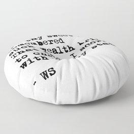 Sonnet 29 - Love Sonnet on white Floor Pillow