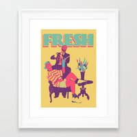 fresh prince Framed Art Prints featuring FRESH by UCArts