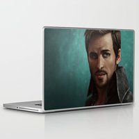 captain hook Laptop & iPad Skins featuring Hook by Ravenno