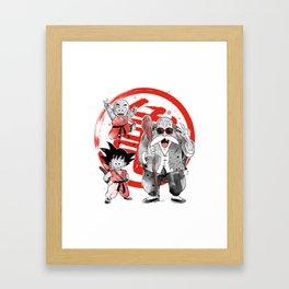 goku Kame School Framed Art Print
