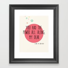 Glynda the Good Witch Typography quote Framed Art Print