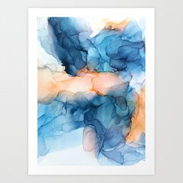 Captivate- Alcohol Ink Painting Art Print