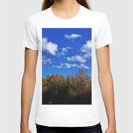 Treetops and Puffy Clouds T-shirt