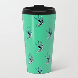 sparrow pattern Travel Mug