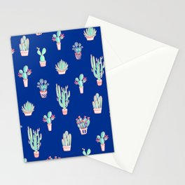 Little cactus pattern - Princess Blue Stationery Cards