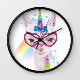 LlamiCorn Wall Clock