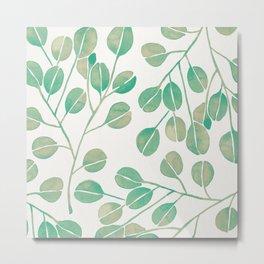 Silver Dollar Eucalyptus – Mint Palette Metal Print
