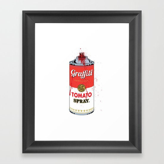 Graffiti Tomato Spray Can Framed Art Print