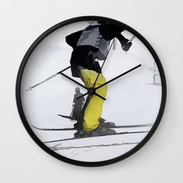 Natural High   - Ski Jump Landing Wall Clock