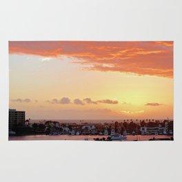Modern Sunset On Cliff Drive Newport Beach CA Rug