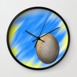 one € Wall Clock