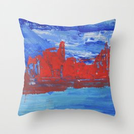 French Riveria Throw Pillow