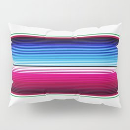 Traditional Mexican Serape in White Multi Pillow Sham