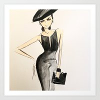 scrubs Art Prints featuring sketch by scrubs to couture by Scrubs to Couture- by Craig