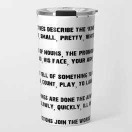 Parts of Speech Rhyme Travel Mug