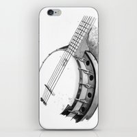 banjo iPhone & iPod Skins featuring Banjo by Ashley Silvernell Quick