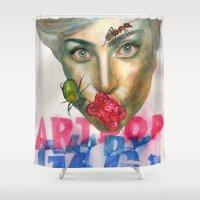 artpop Shower Curtains featuring Farewell ARTPOP by Abhivision