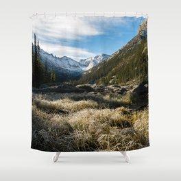 Mills Lake Morning Shower Curtain