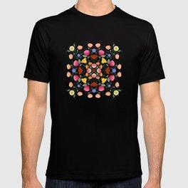 Folk Art Inspired Garden Of Fantastic Floral Delight T-shirt