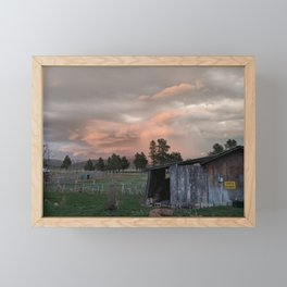 Rustic Shed Framed Mini Art Print