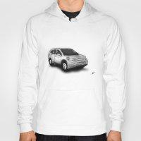 honda Hoodies featuring Honda CR-V by Jens Buch Designs