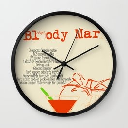 Bloody Mary Cocktail Wall Clock