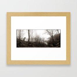 Wild Potomac Poodle Framed Art Print