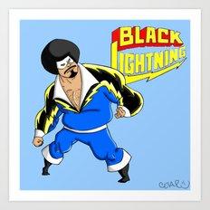 Black Lightning (Sinbad Version)  Art Print