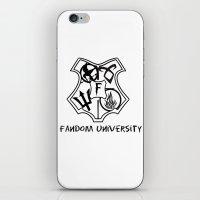 fandom iPhone & iPod Skins featuring fandom university  by Synne Vestvik