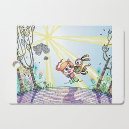 Laughing Along the Path - One Boy and a Toy Cutting Board