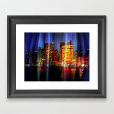 Behind the curtain 3 (Sydney) Framed Art Print